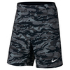 NIKE Men`s Gladiator 9 Inch Printed Tennis Short Black and White