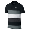 NIKE Men`s Advantage Dri-Fit Cool Tennis Polo Black and White