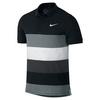 NIKE Men`s Advantage Dri-Fit Cool Tennis Polo Black and White