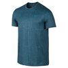 NIKE Men`s Sphere Printed Tennis Crew Midnight Navy and Blue Lagoon