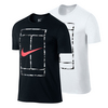 NIKE Men`s Court Logo Short Sleeve Crew Tennis Tee