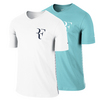 NIKE Mens Roger Federer Short Sleeve V-Neck Tennis Tee