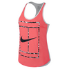 NIKE Women`s Tennis Brand Read Tank Hot Lava