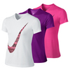 NIKE Girls` Legend Swoosh V-Neck Top