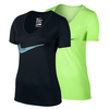 NIKE Women`s Legend Swoosh V-Neck Tee