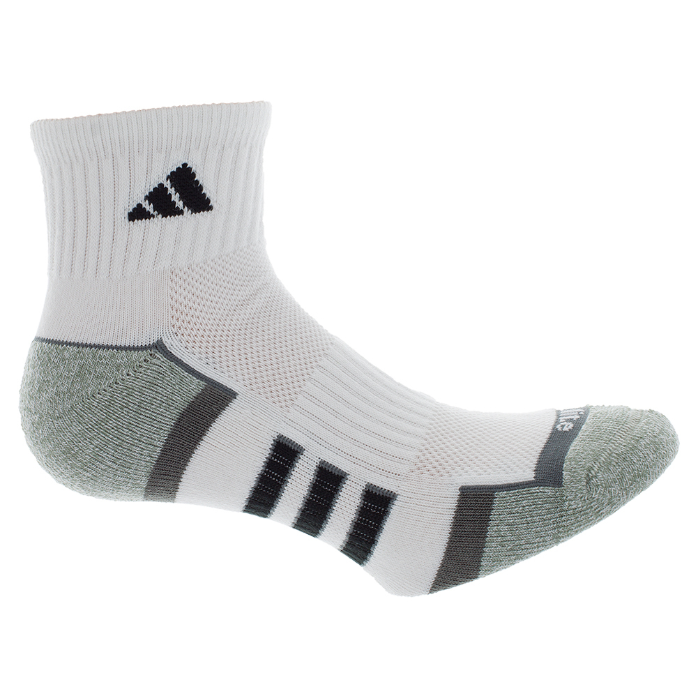 Men`s Climalite II Quarter Tennis Socks 2 Pack White and Onyx shoe sizes 6-12