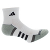 ADIDAS Men`s Climalite II Quarter Tennis Socks 2 Pack White and Onyx shoe sizes 6-12