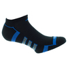 ADIDAS Men`s Climalite II No Show Tennis Sock 2 Pack Black and Bright Royal