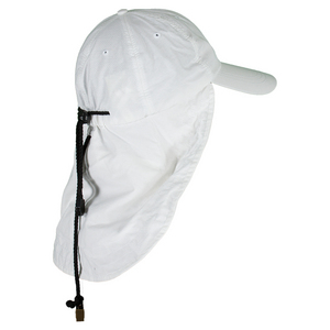 Lightweight UV Nylon Cap with Cape White