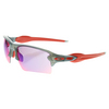 Flak 2.0 XL Sunglasses Prizm Road and Matte Gray Smoke by OAKLEY