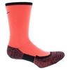 NIKE Elite Crew Tennis Socks Hot Lava and Black