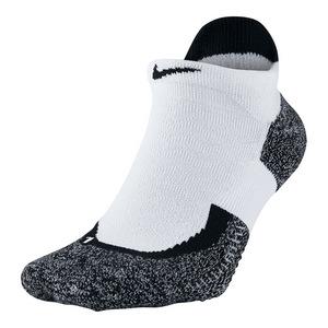 Elite No Show Tennis Socks White and Black