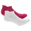 Women`s SOL Ankle Tennis Socks White and Pink by SOLFIRE