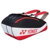 YONEX Club Series 6 pack Tennis Bag Black and Red
