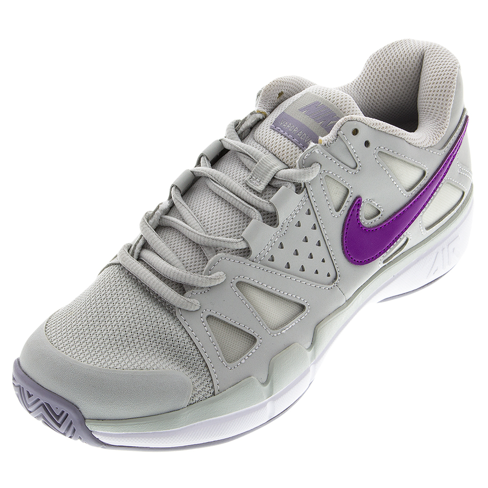 Women's Air Vapor Advantage Tennis Shoes Night Silver And Provence Purple