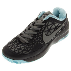 NIKE JUNIORS ZOOM CAGE 2 TNS SHOES BK/COPA