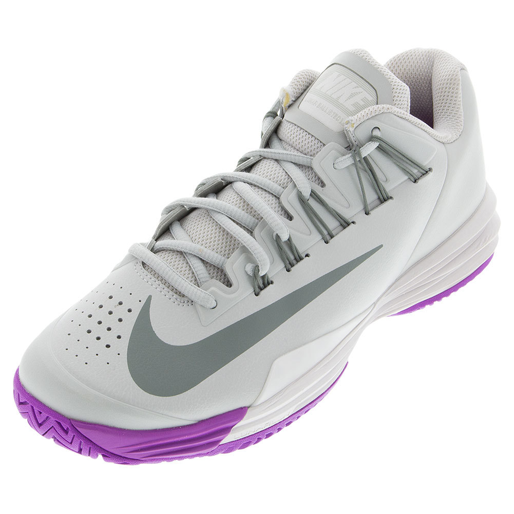 Women's Lunar Ballistec 1.5 Tennis Shoes Night Silver And Phantom