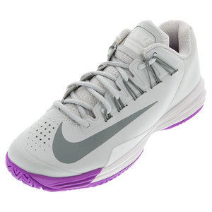 Women`s Lunar Ballistec 1.5 Tennis Shoes Night Silver and Phantom