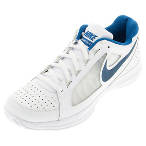 Men`s Air Vapor Ace Tennis Shoes White and Brigade Blue