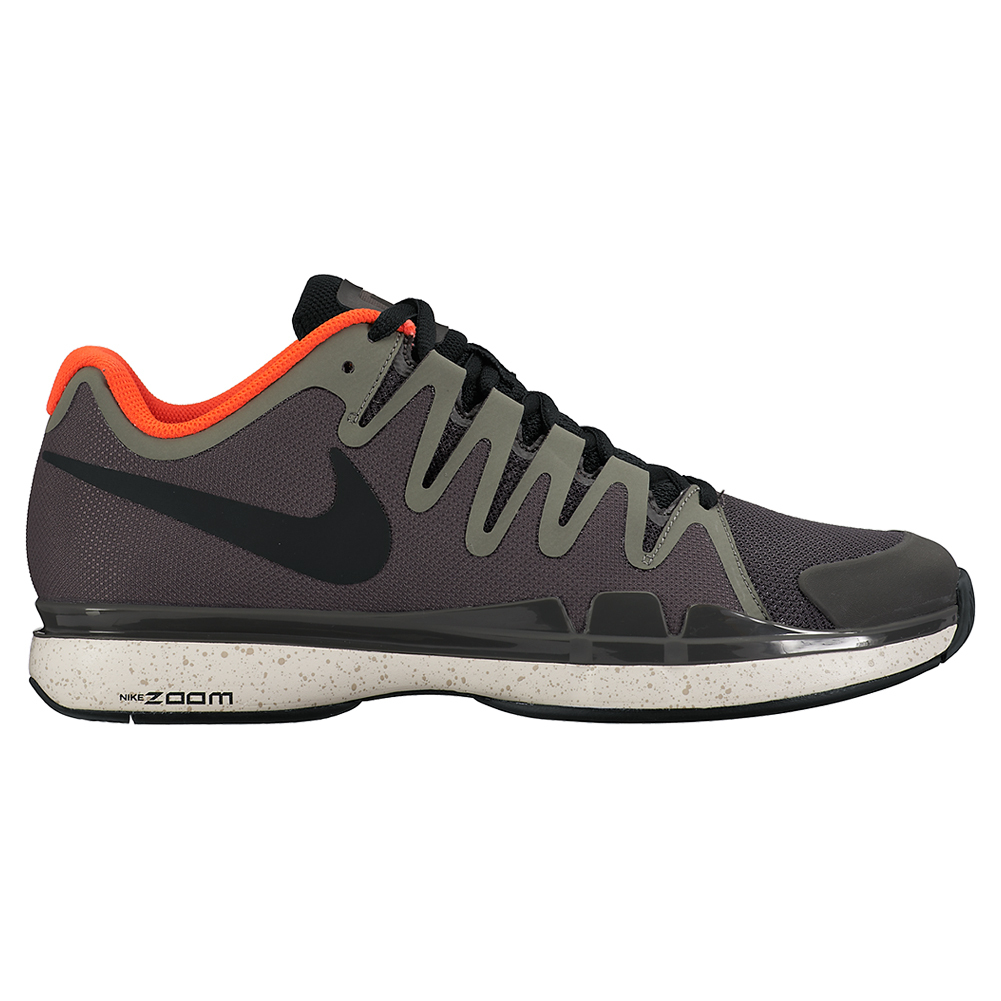 NIKE Men`s Zoom Vapor 9.5 Tour Tennis Shoes Midnight Fog and Tumbled Gray