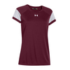UNDER ARMOUR Women`s Zone Tee Maroon