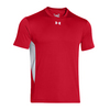 UNDER ARMOUR Men`s Zone Tee Red