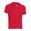 UNDER ARMOUR Men`s Lock Short Sleeve Tee Red