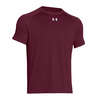 UNDER ARMOUR Men`s Lock Short Sleeve Tee Maroon