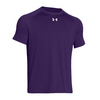 UNDER ARMOUR Men`s Lock Short Sleeve Tee Purple