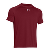 UNDER ARMOUR Men`s Lock Short Sleeve Tee Cardinal