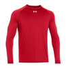 UNDER ARMOUR Men`s Locker Longsleeve Tee Red