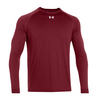 UNDER ARMOUR Men`s Locker Longsleeve Tee Cardinal