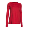 UNDER ARMOUR Women`s Locker Longsleeve Tee Red
