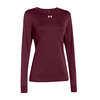 UNDER ARMOUR Women`s Locker Longsleeve Tee Maroon