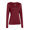 UNDER ARMOUR Women`s Locker Longsleeve Tee Cardinal