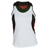 LUCKY IN LOVE Women`s Colorblock Racerback Tennis Tank White