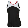 LUCKY IN LOVE Women`s High Neck Tennis Cami Black