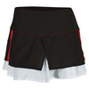 LUCKY IN LOVE Women`s Tuxedo Tier Tennis Skort Black