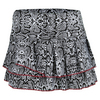 LUCKY IN LOVE Women`s Scaling Up Pleated Tier Tennis Skort Print
