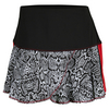 LUCKY IN LOVE Women`s Long Scaling Up Petal Tennis Skort Print