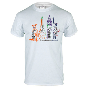 City Slam  Unisex Tennis Tee in White