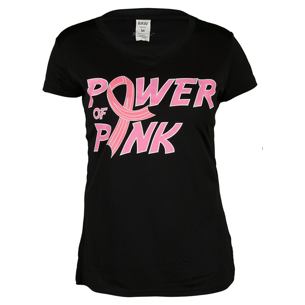 Women's Pink Power Performance Tee Black