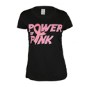 TENNIS EXPRESS Women`s Pink Power Performance Tennis Tee in Black