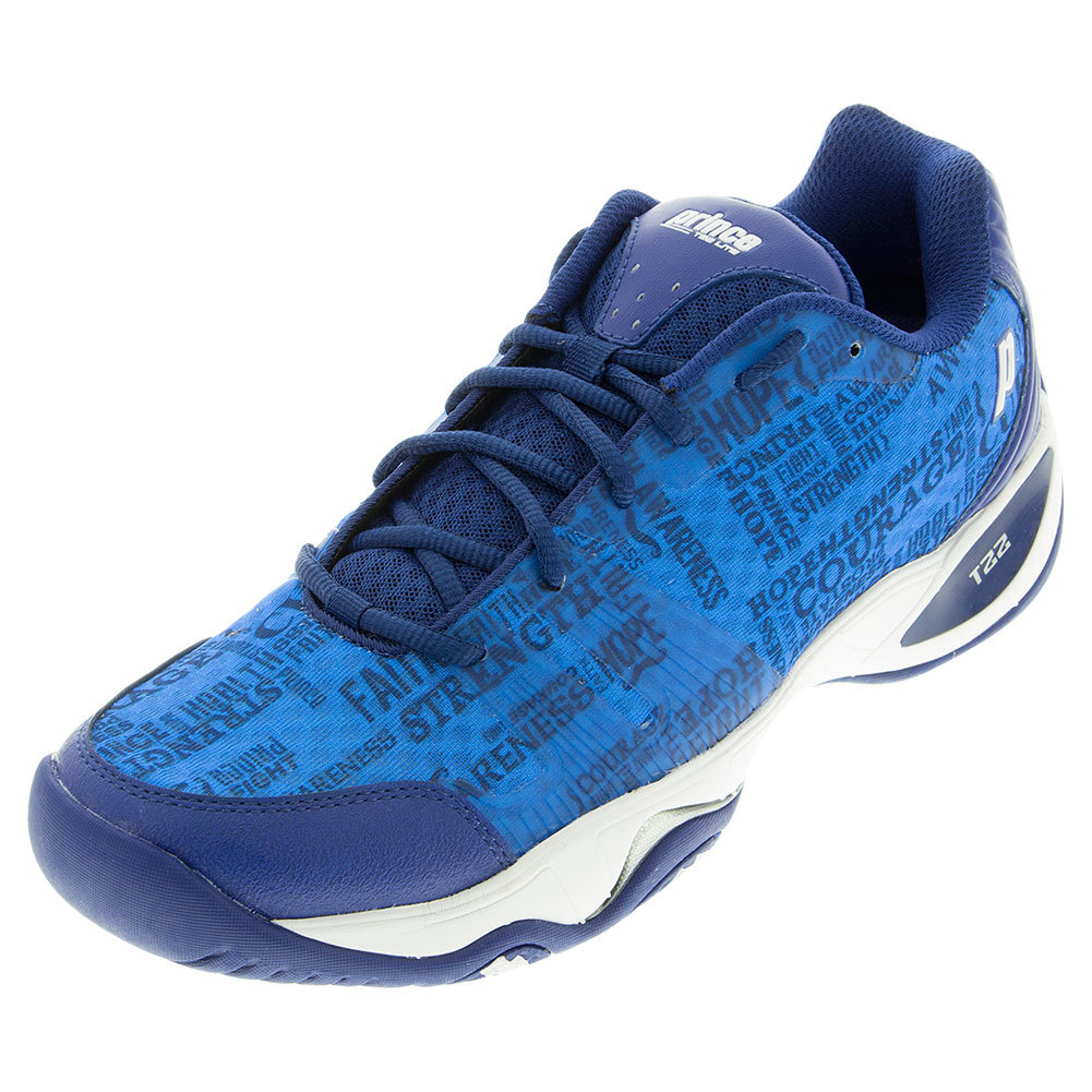 Men's T22 Lite Tennis Shoes Blue And White