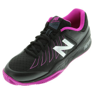 Women`s 1006 2A Width Tennis Shoes Black and Pink