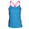 SOFIBELLA Women`s Spectrum Athletic Tennis Cami Reflective Blue