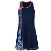 SOFIBELLA Women`s Spectrum Asymmetrical Tennis Dress Navy