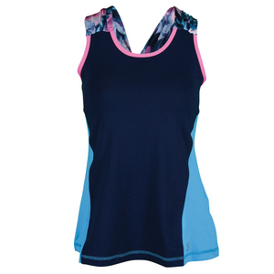 Women`s Spectrum Crisscross Tennis Racerback Navy
