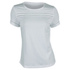 TAIL Women`s Bridget Jacquard Dot Tennis Top White