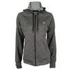 ADIDAS Women`s Fleece Full Zip Hoodie Dark Gray